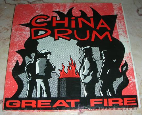 CHINA DRUM - GREAT FIRE - 10'' EP (Música - Discos de Vinilo - EPs - Pop - Rock Extranjero de los 90 a la actualidad)
