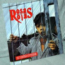 Discos de vinilo: EL VÉRTIGO INTERIOR - ROSAS ROJAS - LP VINILO 12'' - CON INSERTO - EDITADO EN ESPAÑA - PDI 1991.. Lote 47377385