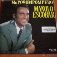 Discos de vinilo: MANOLO ESCOBAR, MR POROMPOMPERO. BELTER 1970, CAJA DE AHORROS DE MANRESA. Lote 47409759