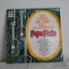Discos de vinilo: PEPE PINTO-LP LA EDAD DE ORO DEL FLAMENCO VOL 1. Lote 47410021