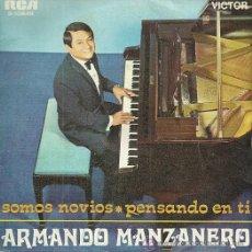 Discos de vinilo: ARMANDO MANZANERO SINGLE SELLO RCA VICTOR AÑO 1968 EDITADO EN ESPAÑA. Lote 47419483