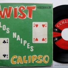 Discos de vinilo: LOS NAIPES. TWIST CALIPSO. EP COLUMBIA EPC-27. VENEZUELA. LUIS CRUZ. EL CHEVERON. INGENUA. . Lote 47431727