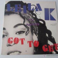 Discos de vinilo: LEILA K (MIKE HITMAN WILSON) WITH ROB 'N' RAZ - GOT TO GET (3 VERSIONES) MAXI SINGLE 1989 SPAIN. Lote 47435183