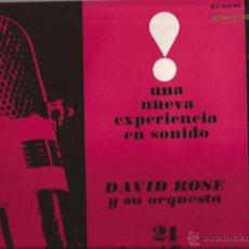 Discos de vinilo: LP-DAVID ROSE Y ORQUESTA 21 MICROFONOS-HISPAVOX MGM 05103-SPAIN 1962-EASY LISTENING. Lote 47435951