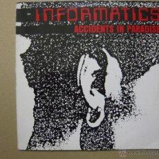 Disques de vinyle: INFORMATICS. ACCIDENTS IN PARADISE LAST CHANCE RECORDS LC 8755 LP ALEMANIA 1981. Lote 47444912