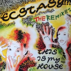 Discos de vinilo: ECSTASY!?! - THIS IS MY HOUSE . MAXI SINGLE . 1990 HOT TRAX ITALY - HT2893 . Lote 47447657