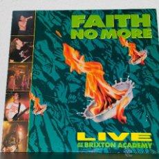 Discos de vinilo: FAITH NO MORE - LIVE AT BRIXTON ACADEMY LP 1991. Lote 47447974