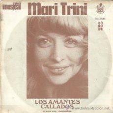 Disques de vinyle: MARI TRINI EP FLEXI PROMO HISPAVOX LOS AMANTES CALLADOS + CARLOS LUENGO, ALCATRAZ, MAYA A 33 RPM. Lote 47448359