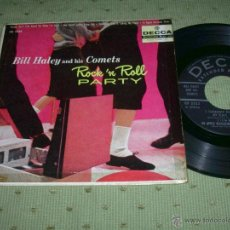 Discos de vinilo: BILL HALEY AND HIS COMETS ROCK 'N'ROLL PARTY PLEASE DON'T TALK ABOUT ME WHEN I'M GONE USA EP. Lote 155799604