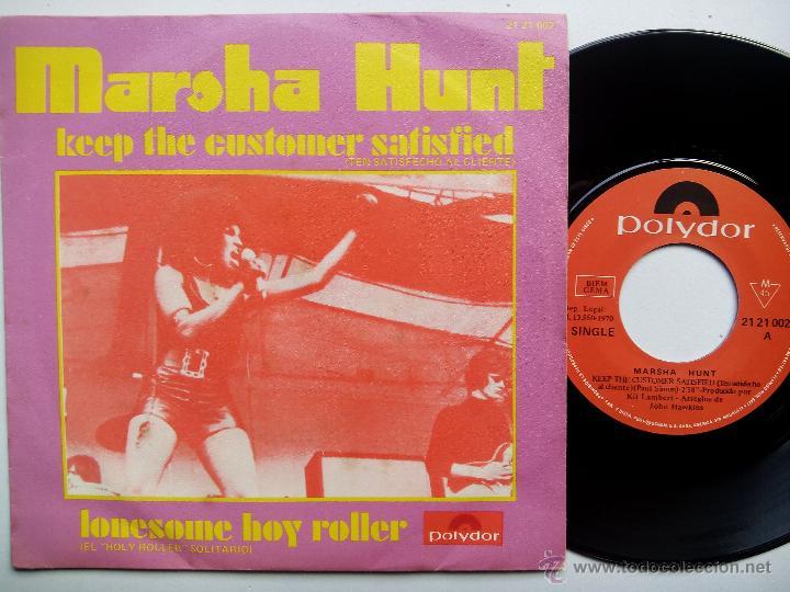 MARSHA HUNT. KEEP THE CUSTOMER SATISFIED. SINGLE POLYDOR 21 21 002. ESPAÑA 1970. (Música - Discos - Singles Vinilo - Funk, Soul y Black Music)