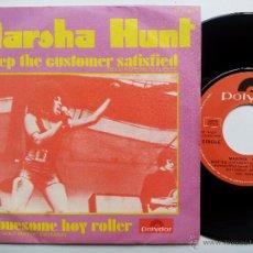 Discos de vinilo: MARSHA HUNT. KEEP THE CUSTOMER SATISFIED. SINGLE POLYDOR 21 21 002. ESPAÑA 1970.. Lote 47452749