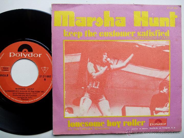 Discos de vinilo: MARSHA HUNT. KEEP THE CUSTOMER SATISFIED. SINGLE POLYDOR 21 21 002. ESPAÑA 1970. - Foto 2 - 47452749