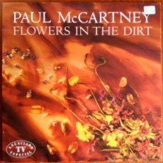 Discos de vinilo: PAUL MCCARTNEY (THE BEATLES), FLOWERS IN THE DIRT - LP ESPAÑA 1989, CON HOJA INTERIOR CON LETRAS. Lote 47454831
