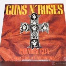 Discos de vinilo: GUNS & ROSES - PARADISE CITY MAXI. Lote 47458763