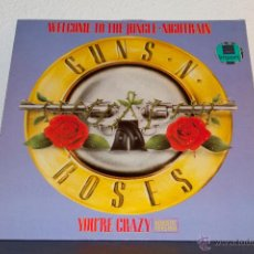 Discos de vinilo: GUNS & ROSES - WELCOME TO THE JUNGLE MAXI. Lote 47458822
