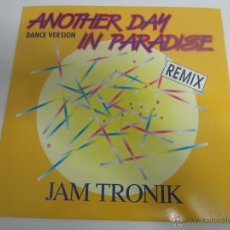 Discos de vinilo: JAM TRONIK - ANOTHER DAY IN PARADISE (REMIX) (PHIL COLLINS) 1990 GERMANY MAXI SINGLE. Lote 47465957