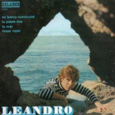 Discos de vinilo: LEANDRO , EP, MI BARCA CONSTRUIRÉ + 3, AÑO 1971. Lote 47466939