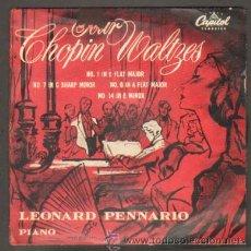 Discos de vinilo: FOUR CHOPIN WALTZES. Nº1 IN E FLAT MAJOR;Nº7 IN C SHARP MINOR;Nº8 IN A FLAT MAJOR;Nº14 IN E MINOR . Lote 47467065