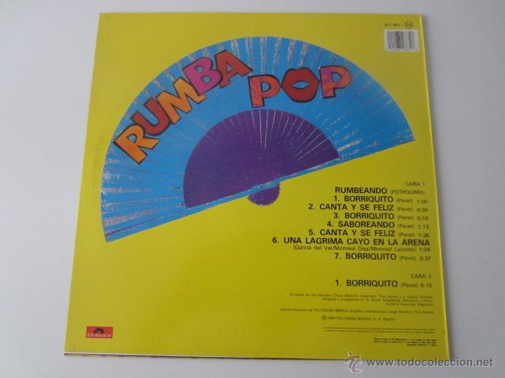 Discos de vinilo: RUMBA POP (PERET) - RUMBEANDO/BORRIQUITO 1989 SPAIN MAXI SINGLE - Foto 2 - 47467319