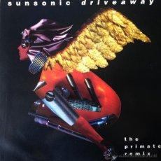 Discos de vinilo: SUNSONIC - DRIVEAWAY (THE PRIMATE REMIX) . MAXI SINGLE . 1991 POLYDOR UK - PZR 103. Lote 47468958