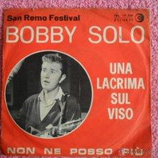 Discos de vinilo: BOBBY SOLO NON NE POSSO PIU 1964 RICORDI 10338 FESTIVAL SAN REMO DISCO VINILO SUIZA. Lote 47473044