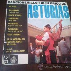 Discos de vinilo: CANCIONERILLO FOLCLORICO ASTURIAS . Lote 47473124