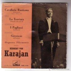 Discos de vinilo: HERBERT VON KARAJAN.EP.LA VOZ DE SU AMO.AÑOS 50. Lote 47475332