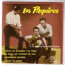 Discos de vinilo: LOS PAQUIROS.EP.SAEF.AÑO 1961. Lote 47475619