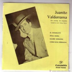 Discos de vinilo: JUANITO VALDERRAMA.EP.COLUMBIA.AÑO 1962. Lote 47475813