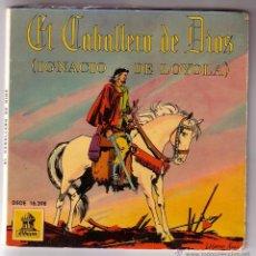 Discos de vinilo: EL CABALLERO DE DIOS.VINILO AZUL + COMIC.SINGLE ODEON.AÑO 1960. Lote 47475967