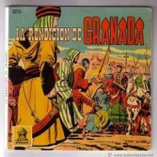 Discos de vinilo: LA RENDICIÓN DE GRANADA.VINILO ROJO + COMIC.SINGLE ODEON.AÑO 1960. Lote 47476000