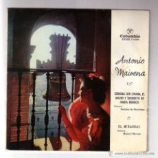Discos de vinilo: ANTONIO MAIRENA.SINGLE COLUMBIA.AÑO 1960. Lote 47476910
