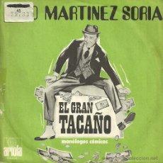 Discos de vinilo: PACO MARTINEZ SORIA DE LA OBRA EL GRAN TACAÑO SINGLE SELLO ARIOLA AÑO 1972 EDITADO EN ESPAÑA. Lote 47496388