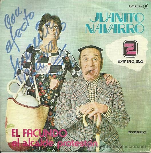 JUANITO NAVARRO SINGLE SELLO ZAFIRO EDITADO EN ESPAÑA 1979 (Música - Discos - Singles Vinilo - Bandas Sonoras y Actores)