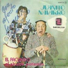 Discos de vinilo: JUANITO NAVARRO SINGLE SELLO ZAFIRO EDITADO EN ESPAÑA 1979. Lote 47497178