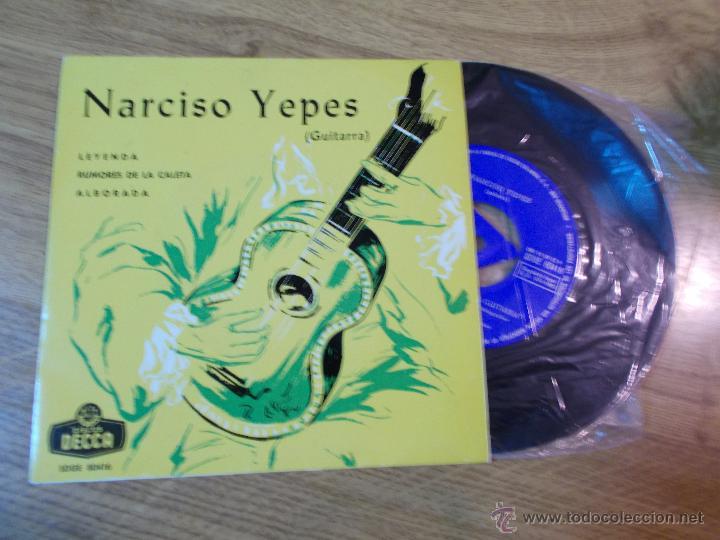 NARCISO YEPES . LEYENDA RUMORES DE LA CALETA ALBORADA (Música - Discos de Vinilo - EPs - Flamenco, Canción española y Cuplé)