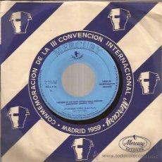 Discos de vinilo: SINGLE-THE PLATTERS DAVID CARROLL-MERCURY PROMO CONVENCION 1959-SPAIN 1959-RARO. Lote 47515954