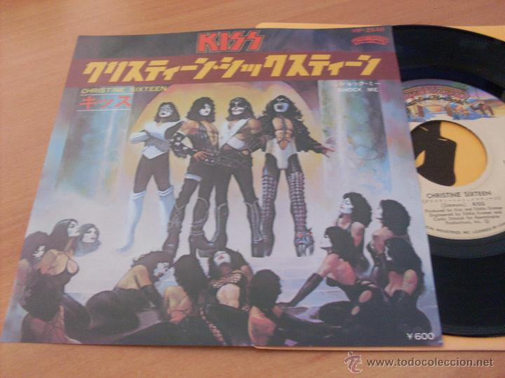 KISS (CHRISTINE SIXTEEN +1 ) SINGLE JAPON CASABLANCA VIP- 2546 (M/NM) (EP11) (Música - Discos - Singles Vinilo - Heavy - Metal)