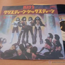 Discos de vinilo: KISS (CHRISTINE SIXTEEN +1 ) SINGLE JAPON CASABLANCA VIP- 2546 (M/NM) (EP11). Lote 47519587