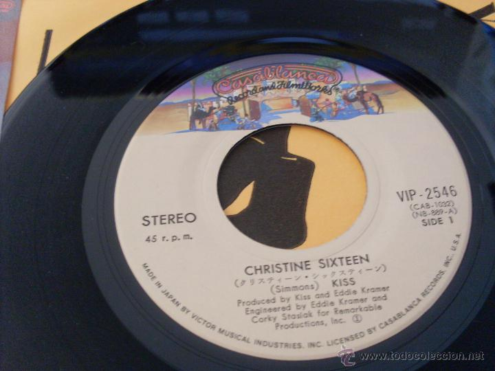 Discos de vinilo: KISS (CHRISTINE SIXTEEN +1 ) SINGLE JAPON CASABLANCA VIP- 2546 (M/NM) (EP11) - Foto 2 - 47519587