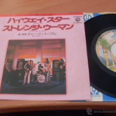 Discos de vinilo: DEEP PURPLE (HIGHWAY STAR + 1 ) SINGLE JAPON WB P- 104W (NM/NM) (EP11). Lote 47520009