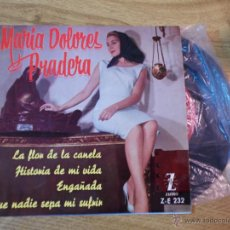 Discos de vinilo: MARIA DOLORES PRADERA / LA FLOR DE LA CANELA / HISTORIA DE MI VIDA / ENGAÑADA.. EP ZAFIRO. Lote 47524002
