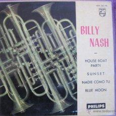 Discos de vinilo: BILLY NASH - HOUSE BOAT PARTY / SUNSET + 2 (SOLO PORTADA). Lote 47528495