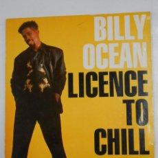 Discos de vinilo: BILLY OCEAN - LICENCE TO CHILL. TDKDA12. Lote 47540965