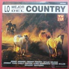 Discos de vinilo: LO MEJOR DEL COUNTRY. Lote 47541433