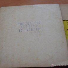 Discos de vinilo: THE BEATLES (GET BACK TO TORONTO) LP I.P.F. RECORDS (VG+/ EX) (VIN14). Lote 47541620
