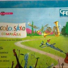 Discos de vinilo: LP ANDRE POPP & JEAN BROUSSOLLE : PICCOLO, SAXO Y COMPAÑIA ( VERSION EN CASTELLANO ) . Lote 47544830