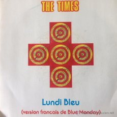 Discos de vinilo: THE TIMES - LUNDI BLEU . SINGLE . 1992 CREATION RECORDS UK - CRE 114. Lote 47554150