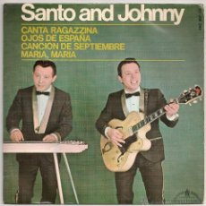 Discos de vinilo: SANTO & JOHNNY - CANTA RAGAZZINA + 3 (EP HISPAVOX 1967 SPAIN). Lote 47554318