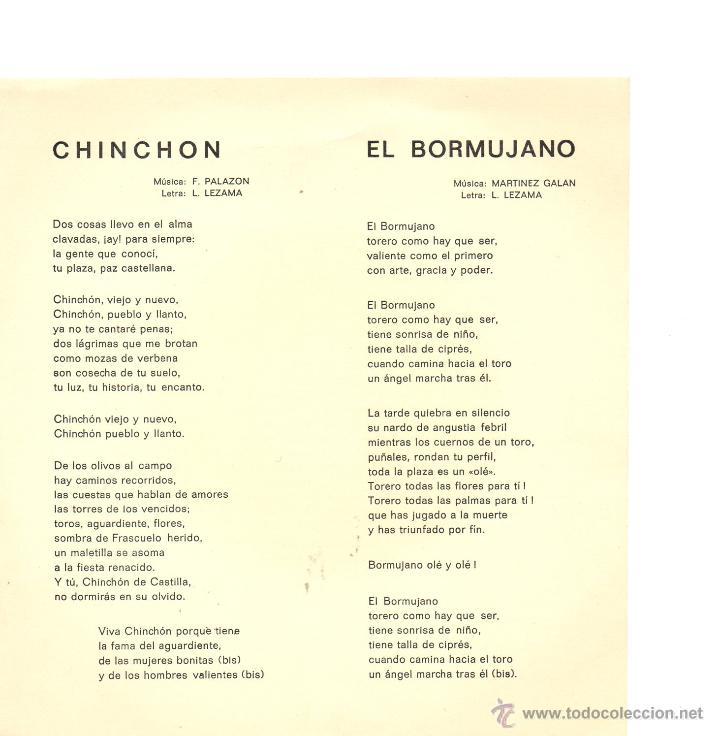 Discos de vinilo: PASODOBLES / CHINCHÓN /EL BORMUJANO / SINGLE 1970 - Foto 2 - 47556692